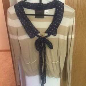 """🎀""""Guinevere"""" Polka Dot Bow-Tie Top/Sweater"""